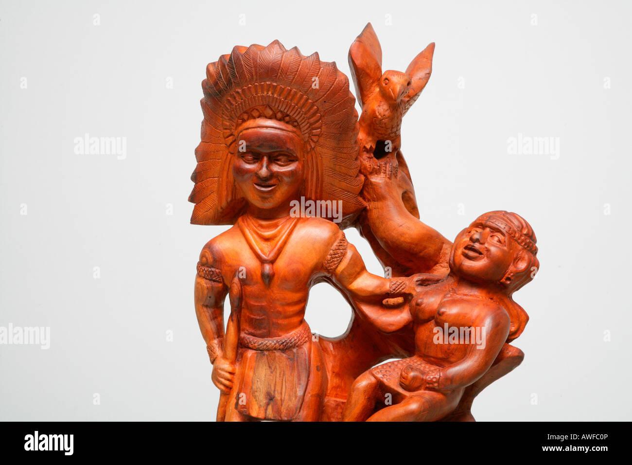 Teak carving amerindian lovers indigenous art guyana