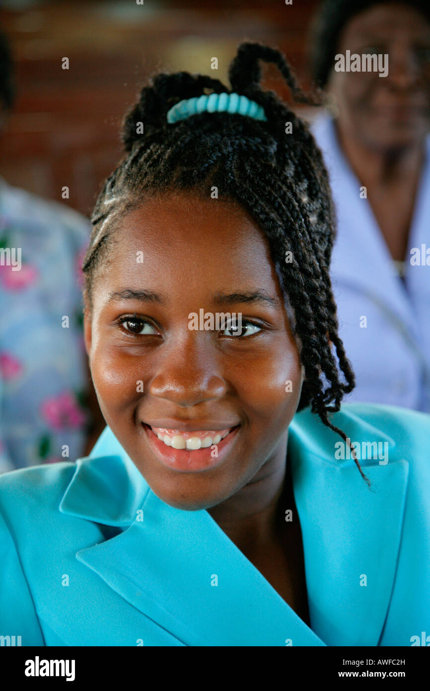 Young woman of African ethnicity, Georgetown, Guyana, South America Stock Photo