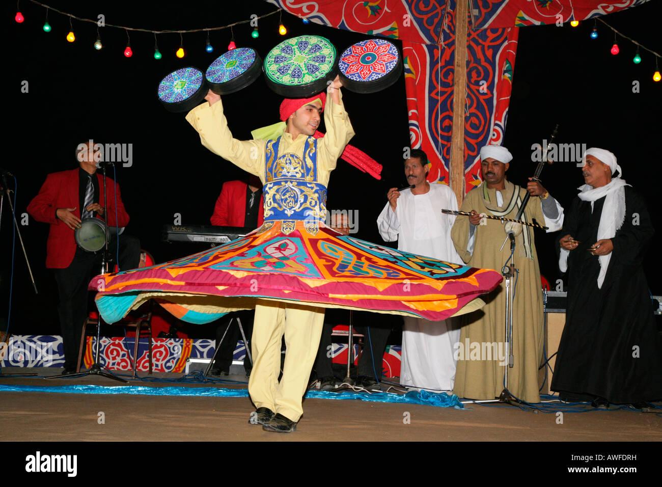 Dervish dancer, Sufis, Giza, Egypt, North Africa, Africa - Stock Image
