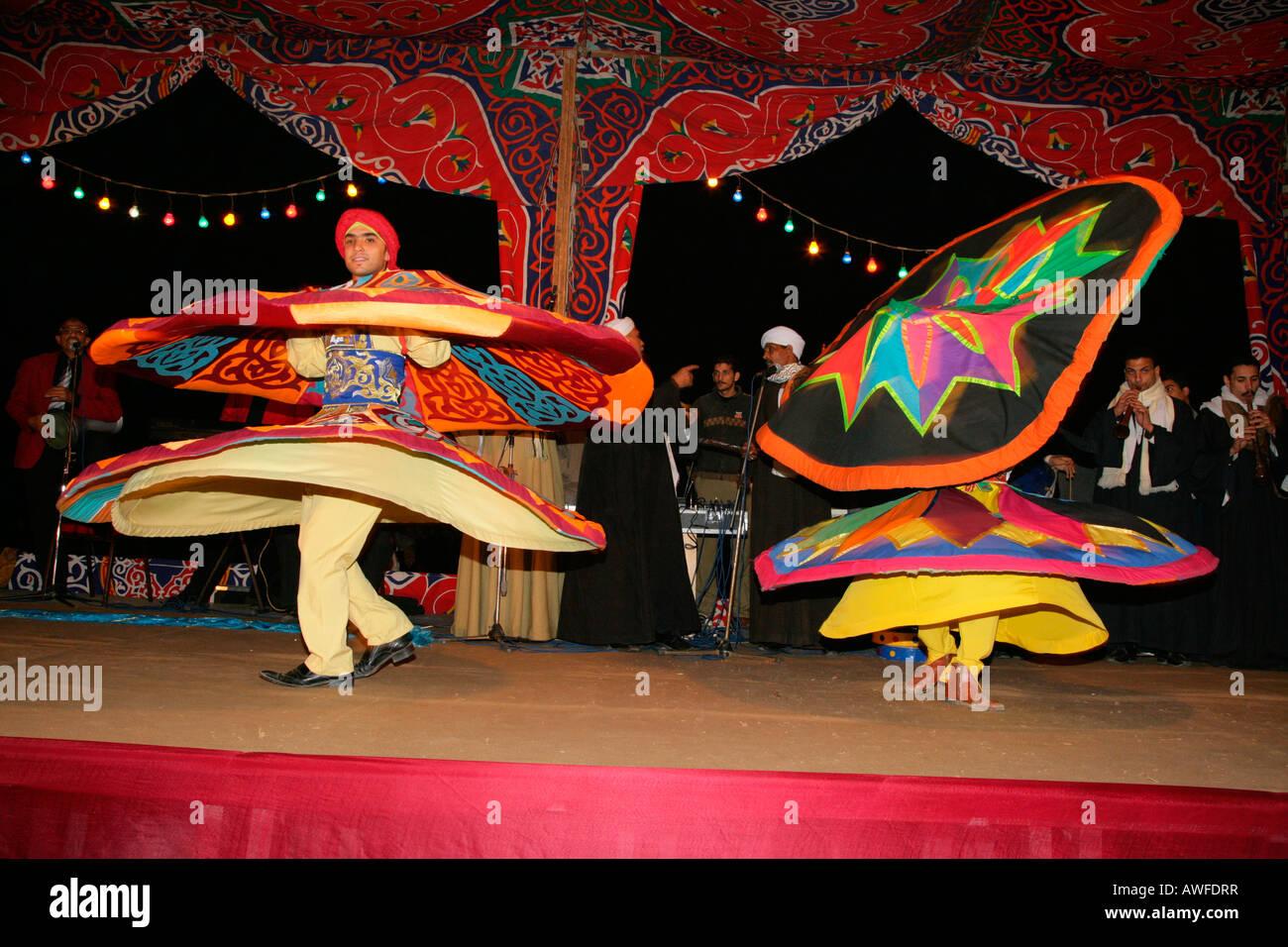 Dervish dancers, Sufis, Giza, Egypt, North Africa, Africa - Stock Image