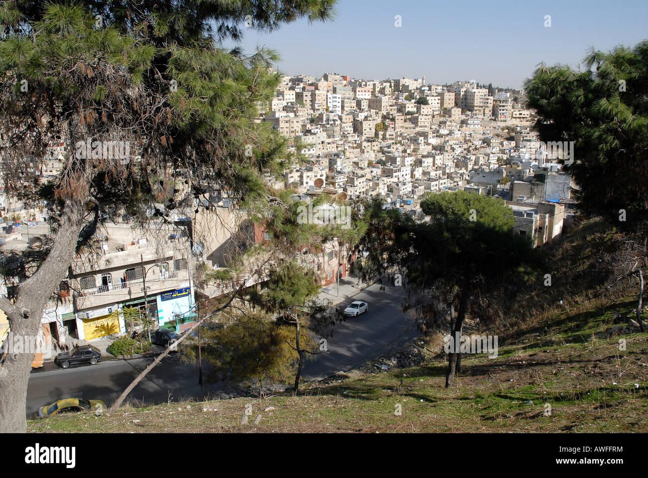 View from the Citadel, Amman, Jordan Stock Photo