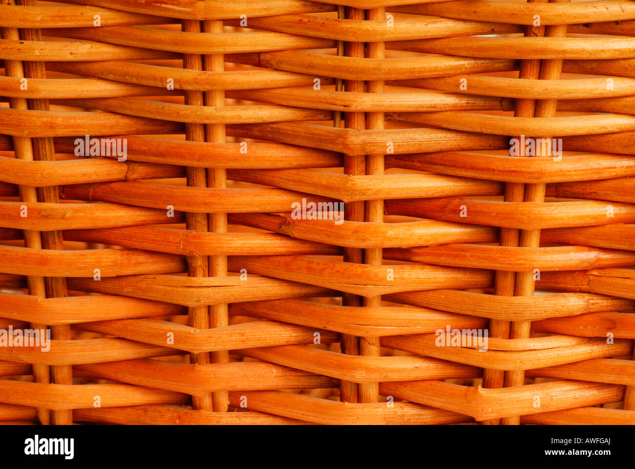 Wicker basket - Stock Image
