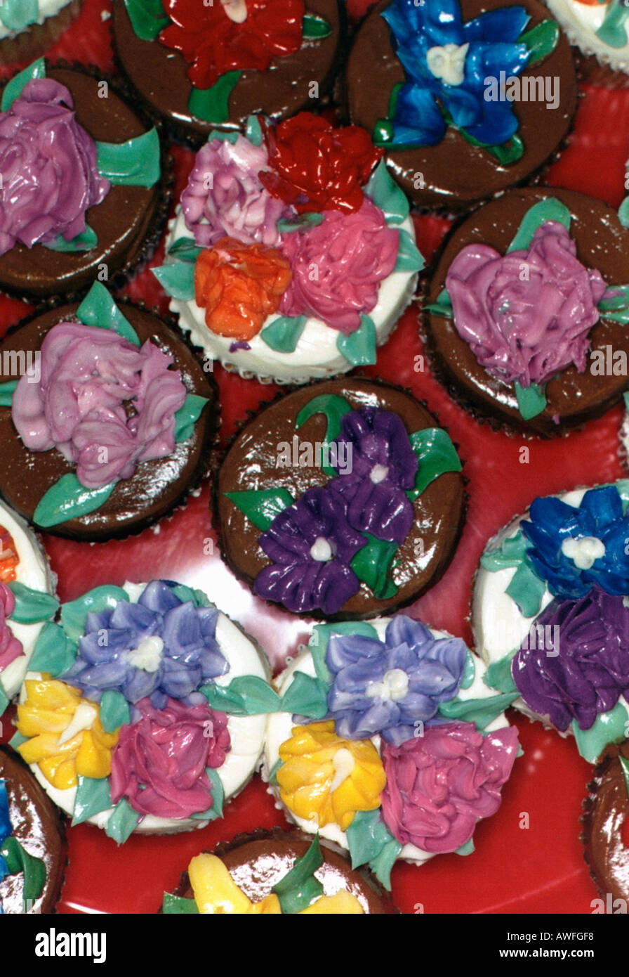 Still Life of Gourmet Cupcakes Decorated with Buttercream Frosting ...