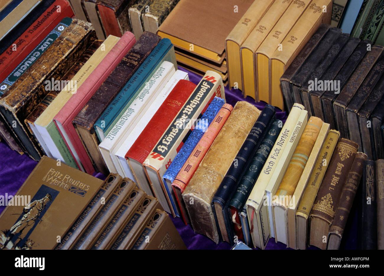 Antique books - Stock Image