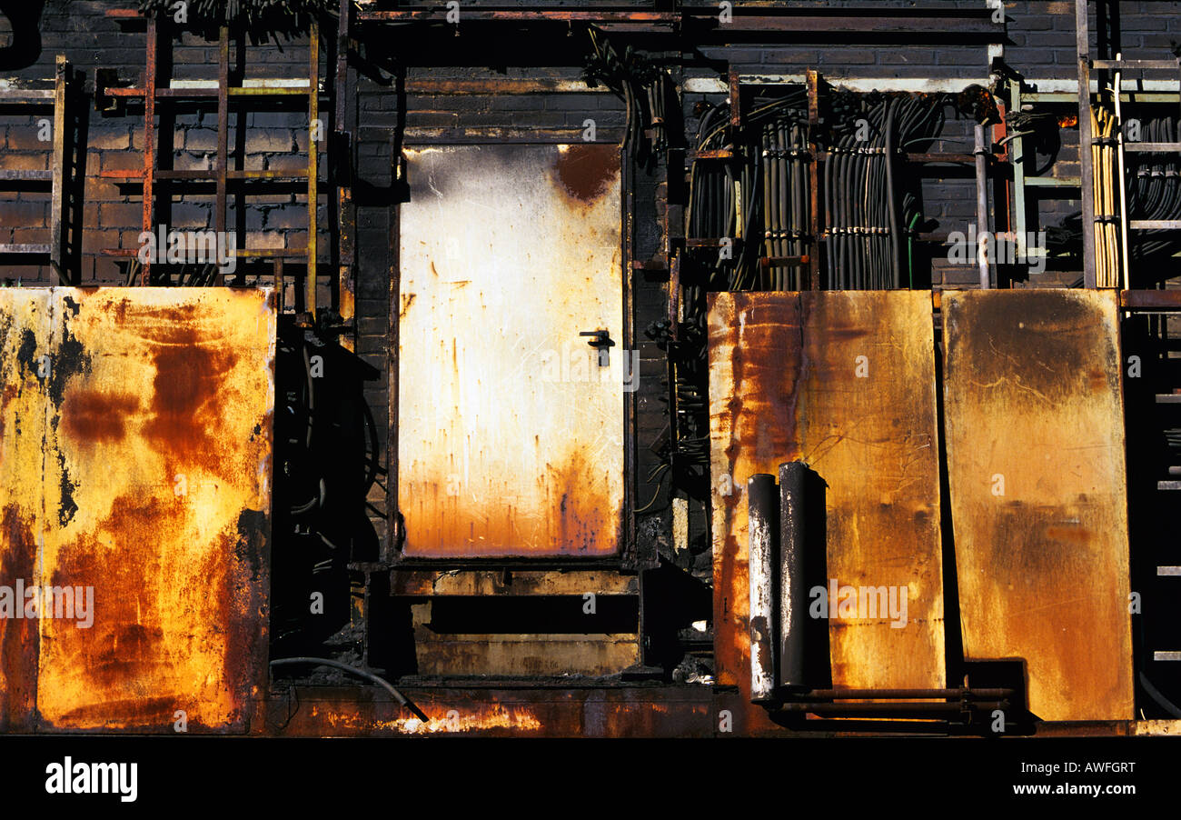 Fire damage at an industrial plant, Germany, Europe - Stock Image