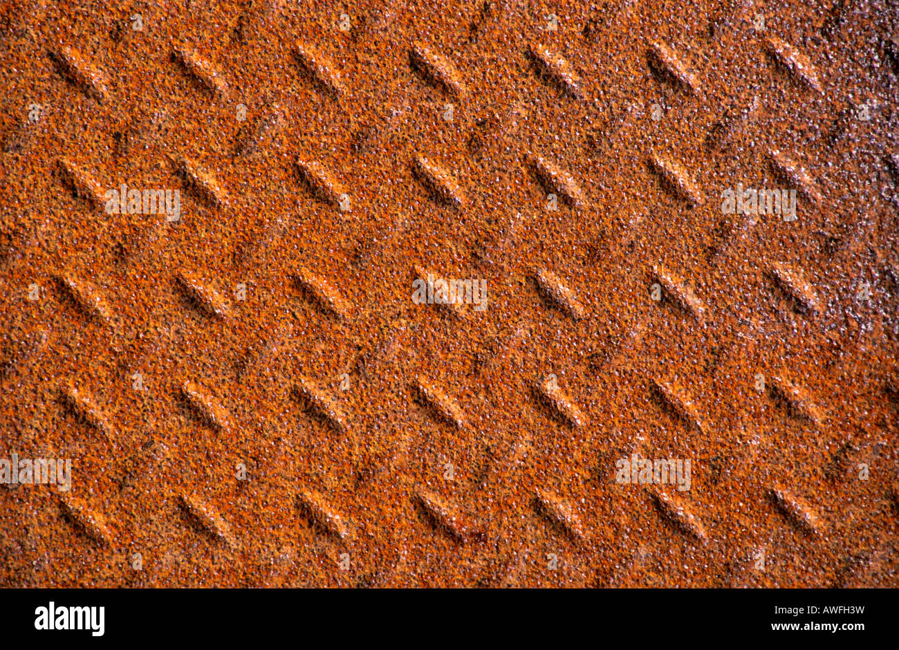 Rust-coloured metal surface Stock Photo
