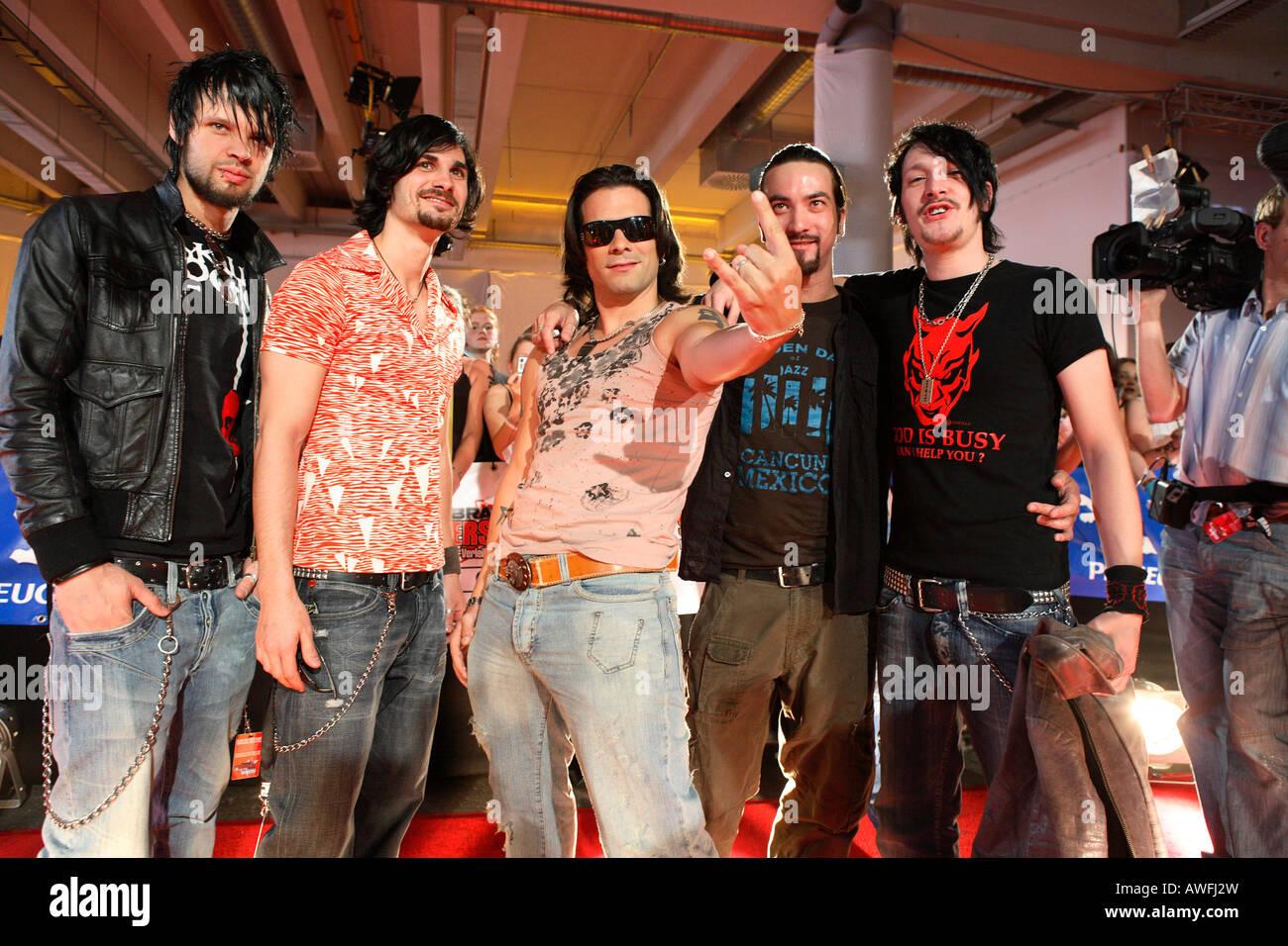 Marc Terenzi with Band - Stock Image