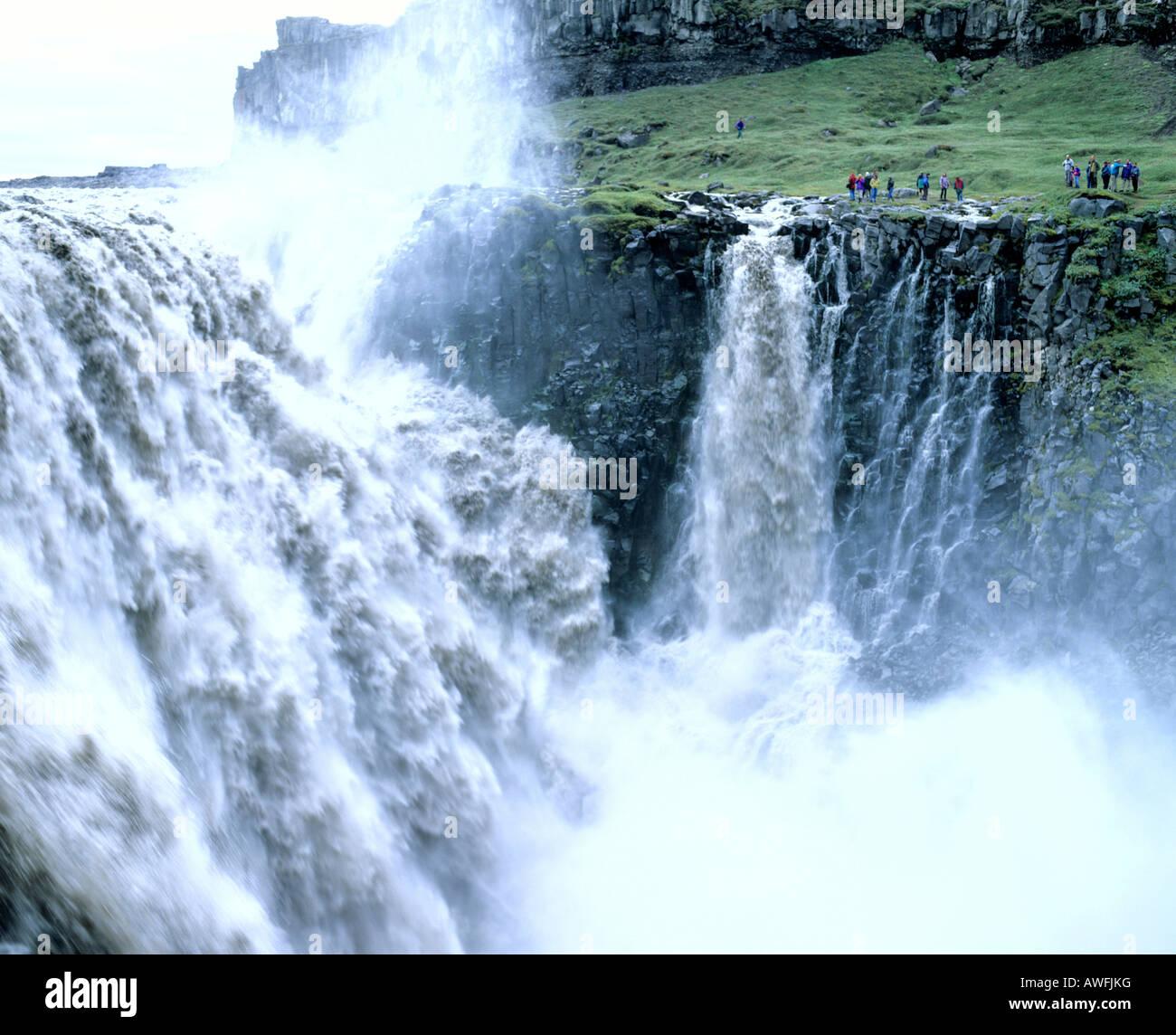 Godafoss Waterfall, Skjálfandafljót-Fluss, Thingeyjarsveit, Thingeyjarsysla, Iceland - Stock Image