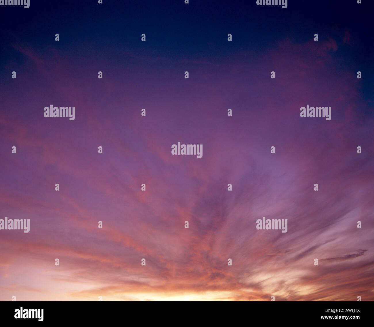 Glowing night sky - Stock Image