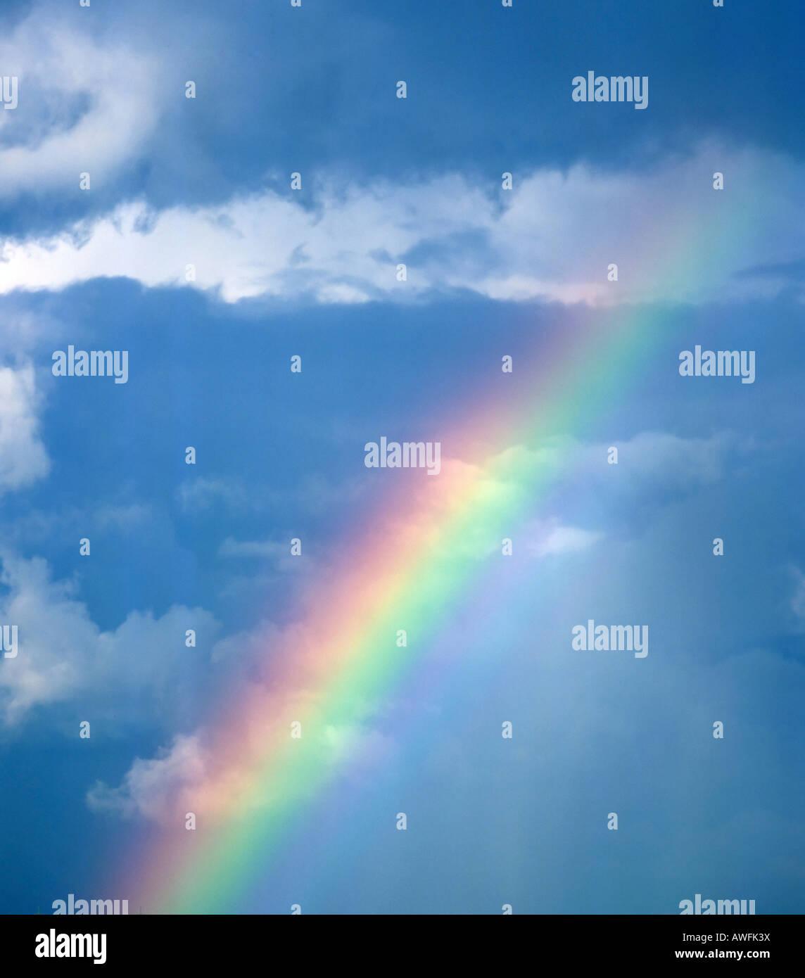 Rainbow, prism, colour spectrum - Stock Image