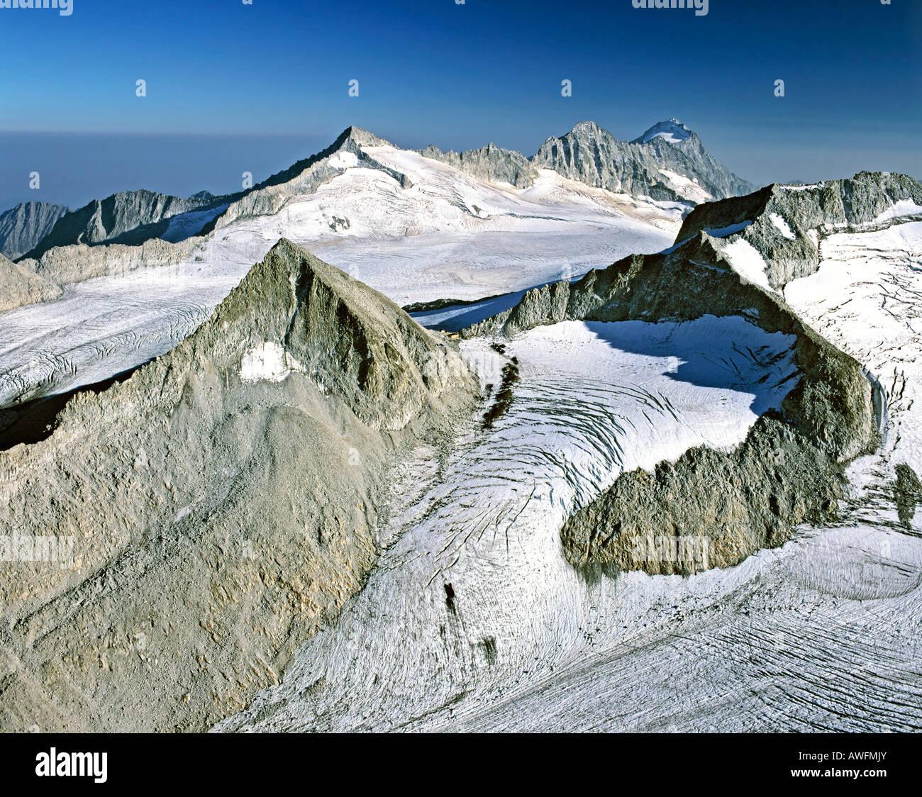 Glacier, Adamello-Presanella Group, Monte Madrone, Lombardy, Eastern Alps, Italy, Europe - Stock Image