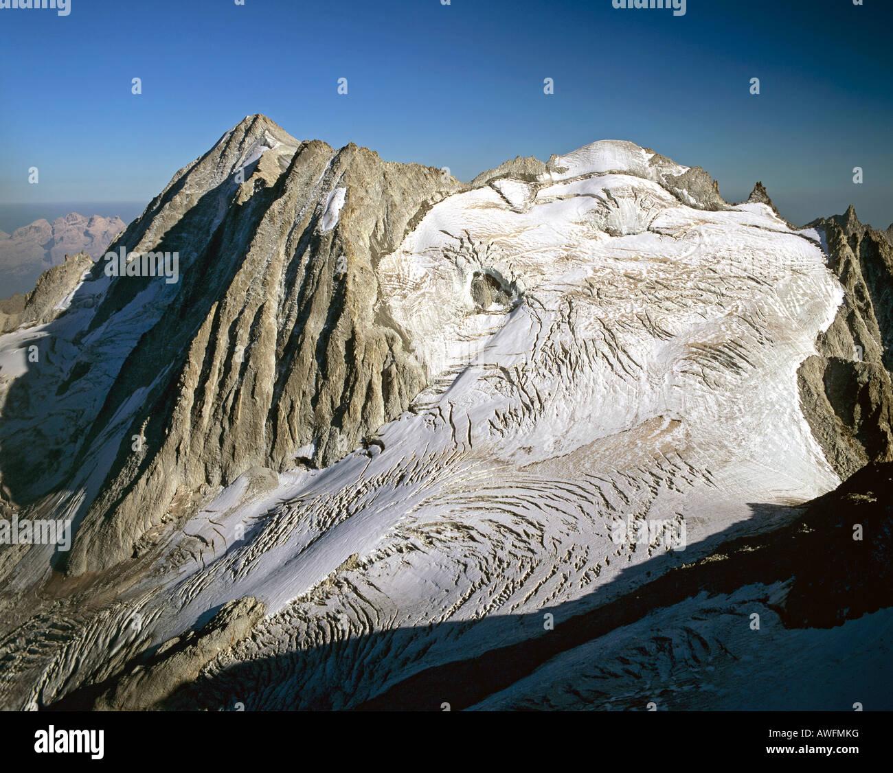 Mt. Presanella, Adamello-Presanella Group, Trentino, Southern Alps, Italy, Europe - Stock Image
