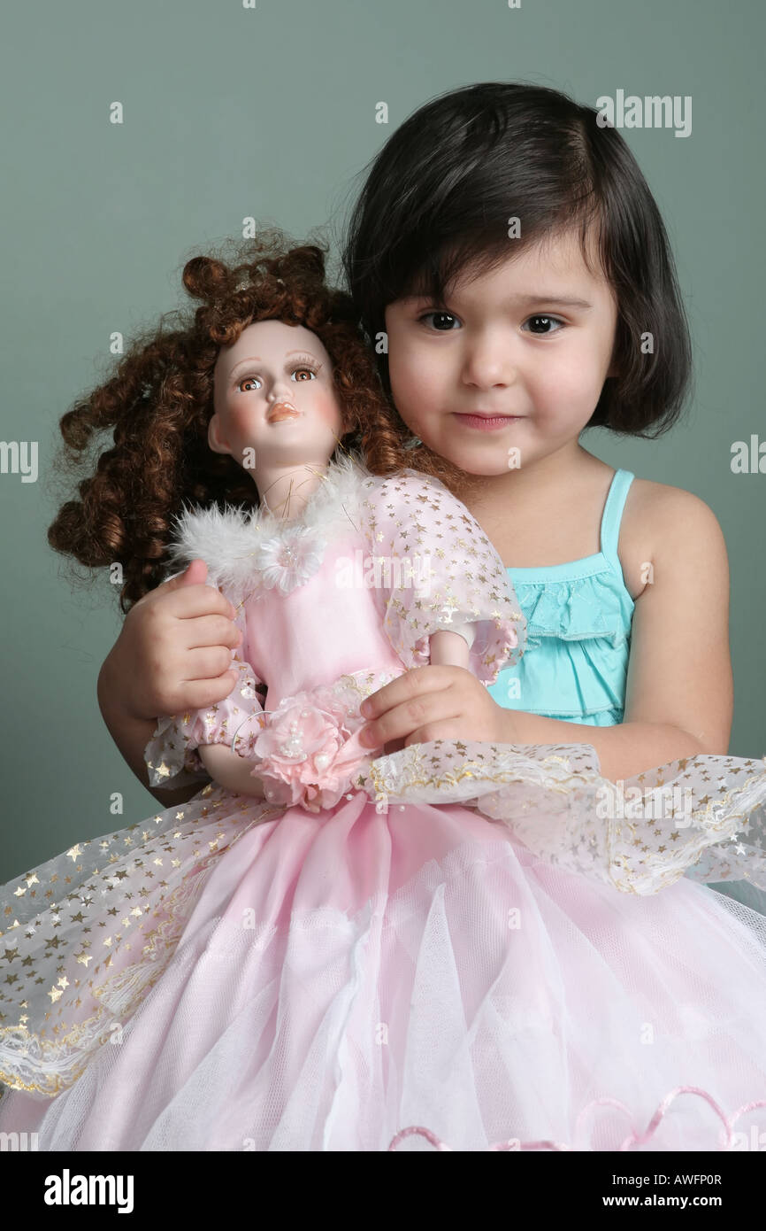 Playing With Doll High Resolution Stock Photography And Images Alamy