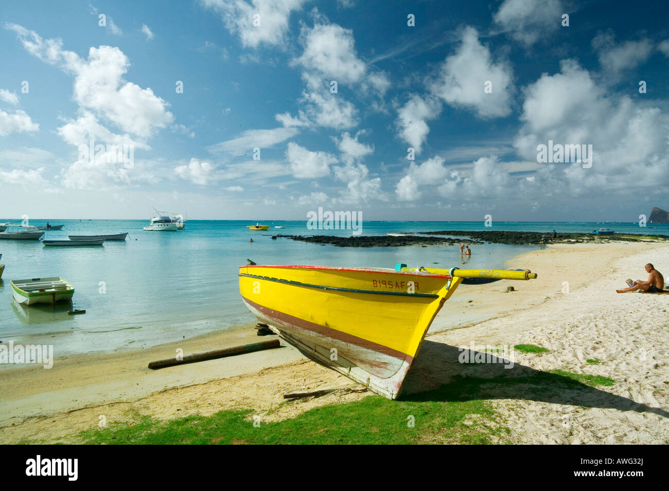 BAINBOEUF - MAURITIUS ISLAND - Stock Image
