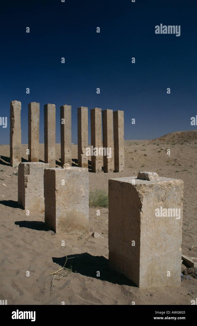 Temple of Bilquis (Awwam), Marib, Yemen. - Stock Image