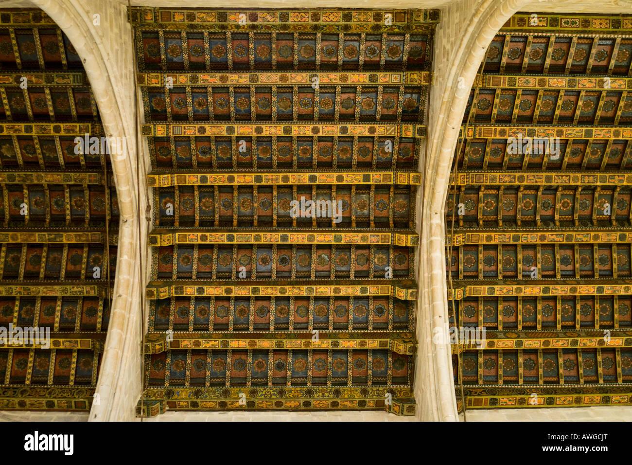 Vault of Capella de Santa Agata at Placa del Rei in Barcelona - Stock Image
