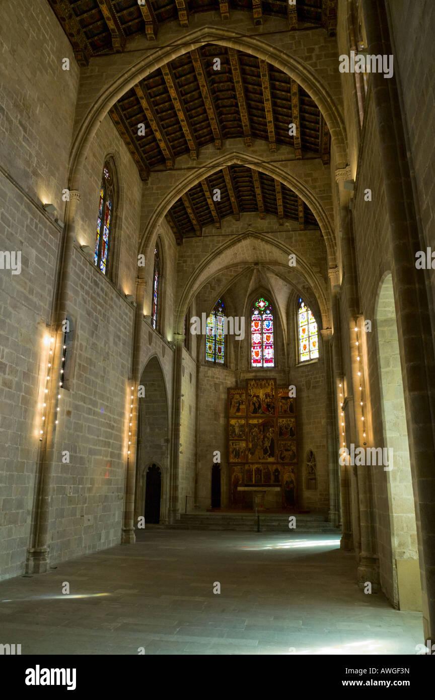 Interior of Capella de Santa Agata at Placa del Rei in Barcelona - Stock Image