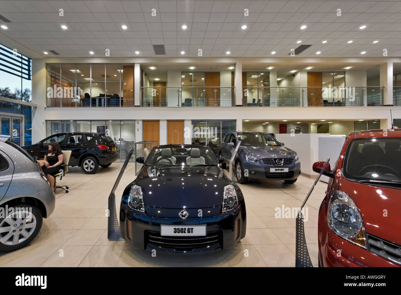 Nissan Car Showroom Interior Stock Photo 16576286 Alamy