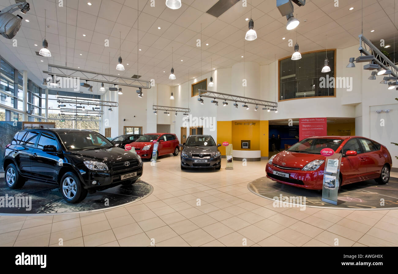 toyota car showroom interior stock photo 16576345 alamy. Black Bedroom Furniture Sets. Home Design Ideas