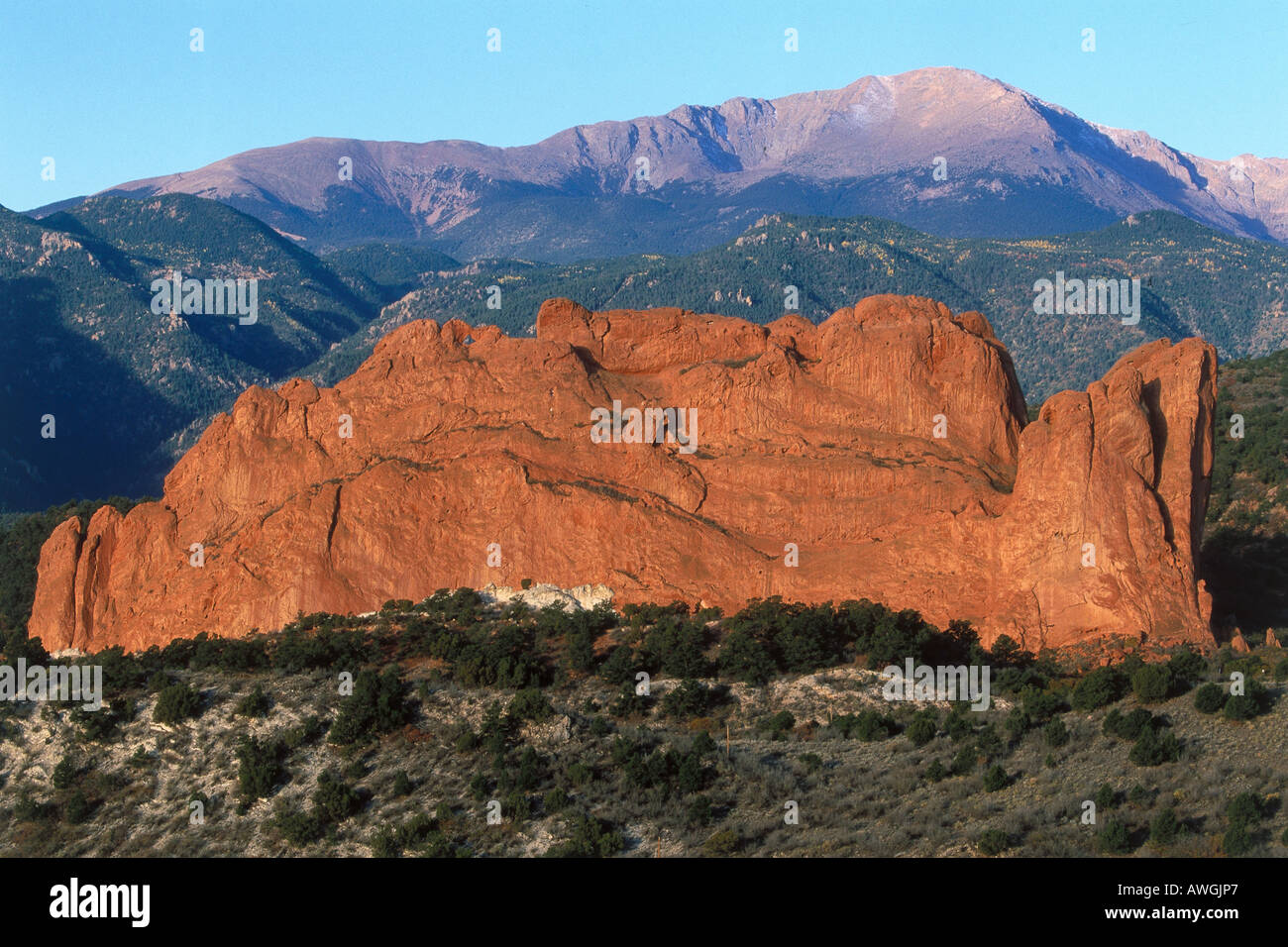 USA, Colorado, Garden of the Gods, Colorado Springs, Kissing