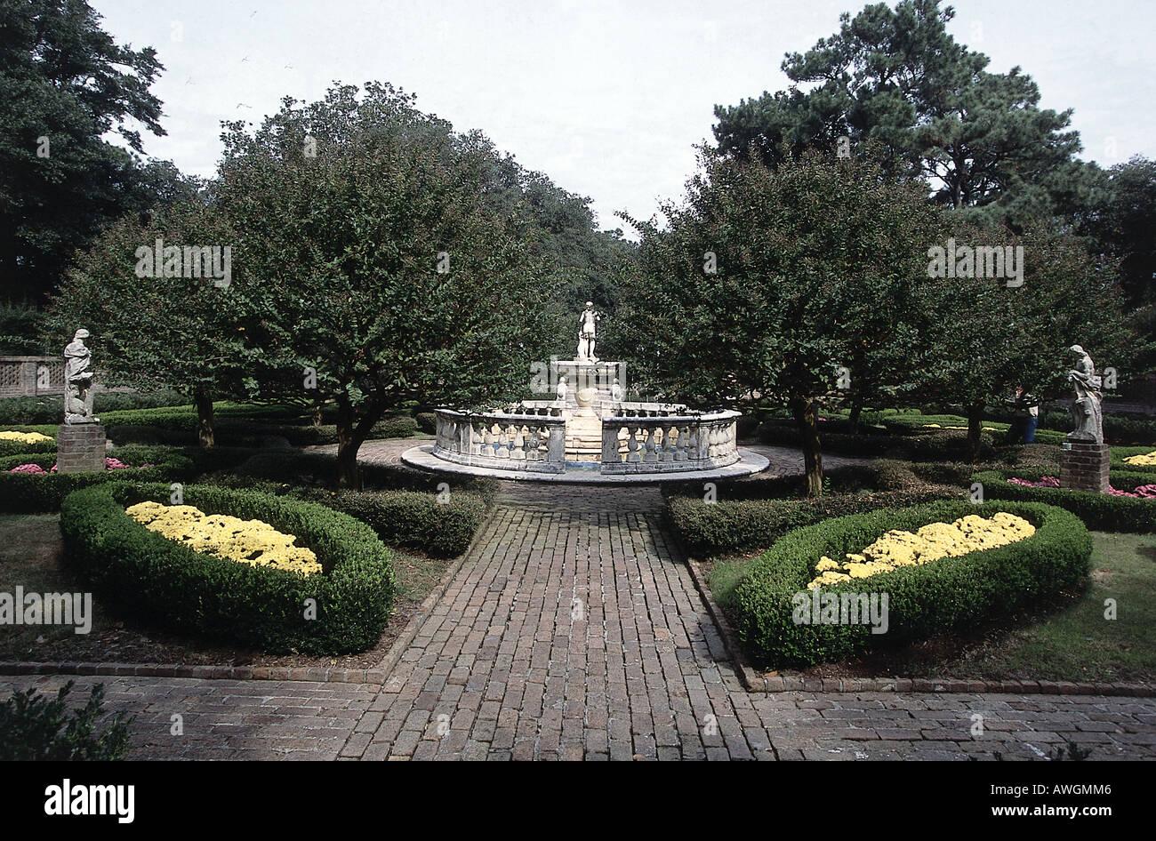 USA, North Carolina, Roanoke Island, Elizabethan Gardens, - Stock Image
