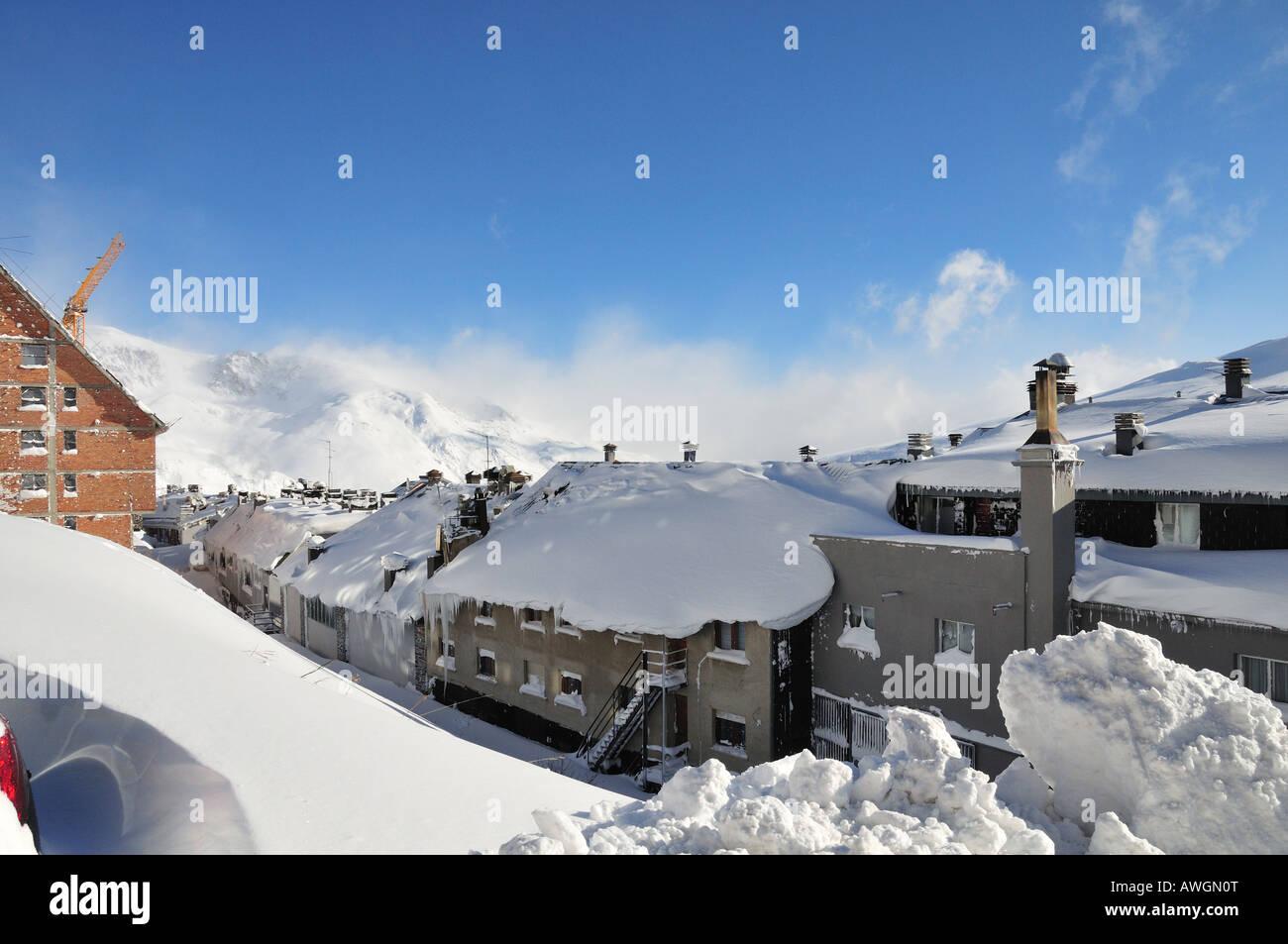 Pas de la Casa winter ski resort, the Pyrenees, Andorra (Spain) - Stock Image