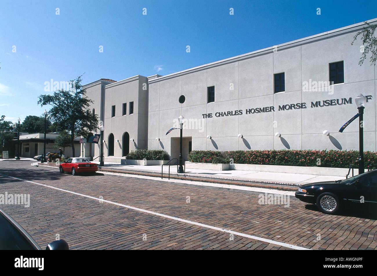 USA, Florida, Orlando, North Park Avenue, Charles Hosmer Morse Museum of American Art - Stock Image