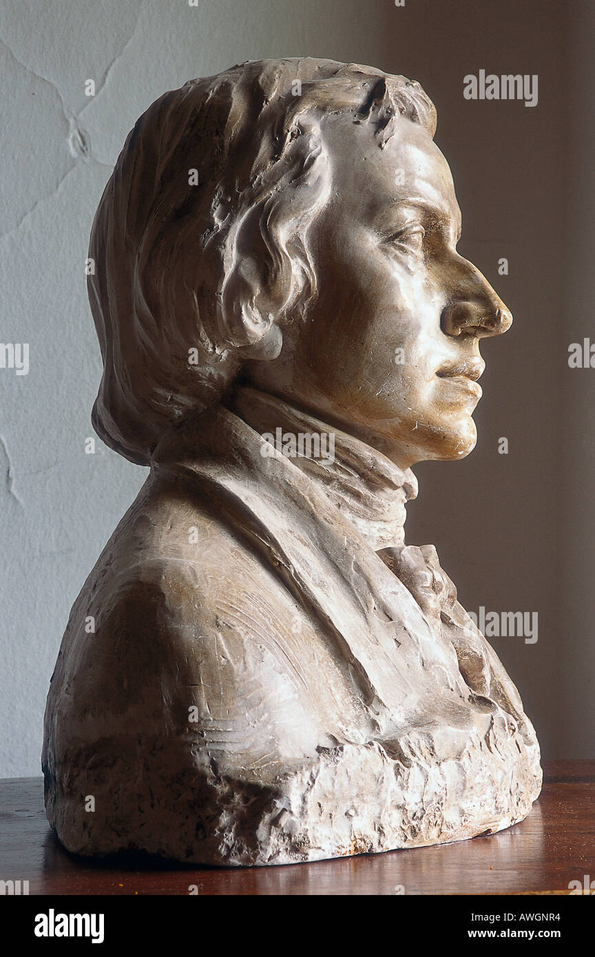 Bust of Chopin. - Stock Image