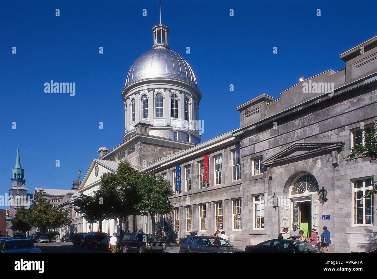 North America, Canada, Québec, Montréal, Marché Bonsecours, - Stock Image