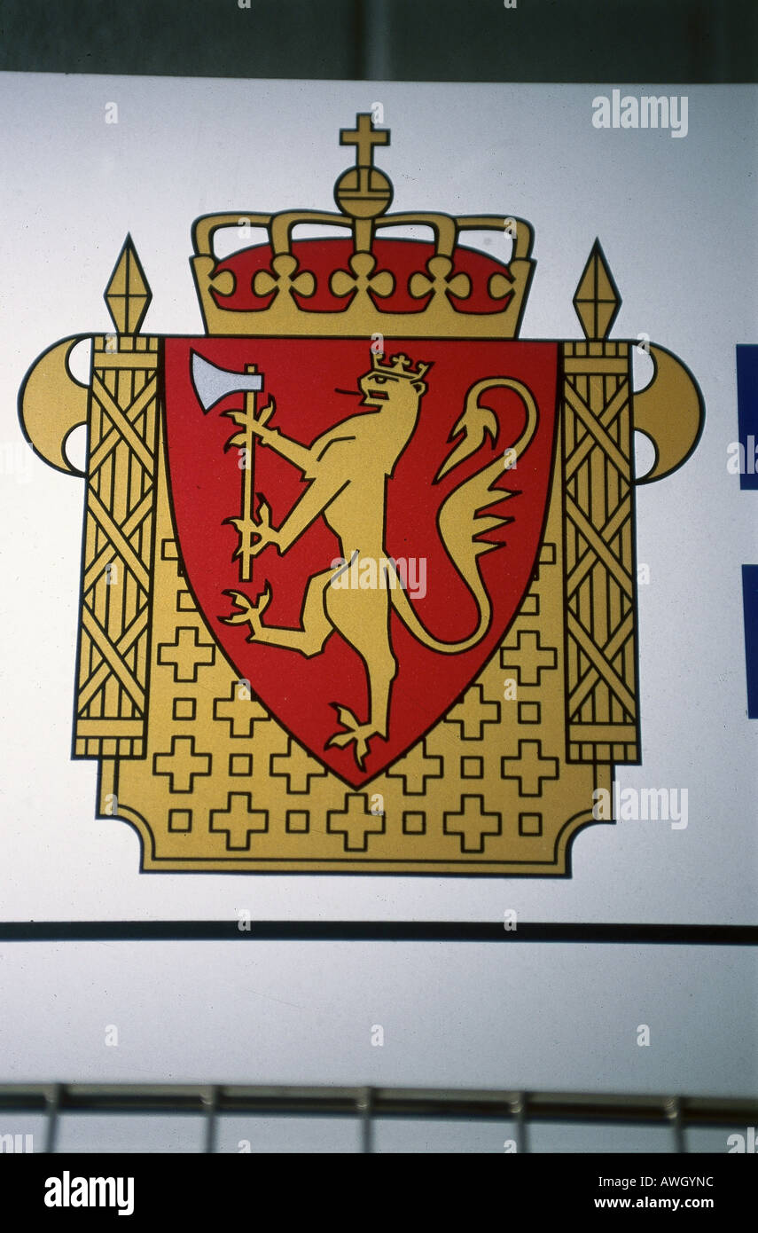 Norway, police insignia - Stock Image