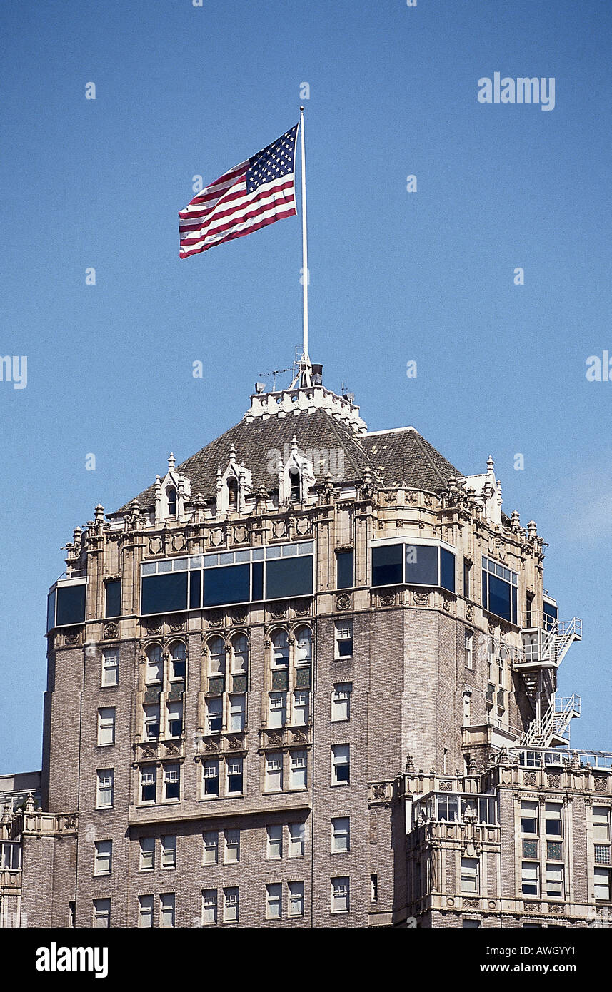 Exterior view of Mark Hopkins Inter-Continental Hotel - Stock Image