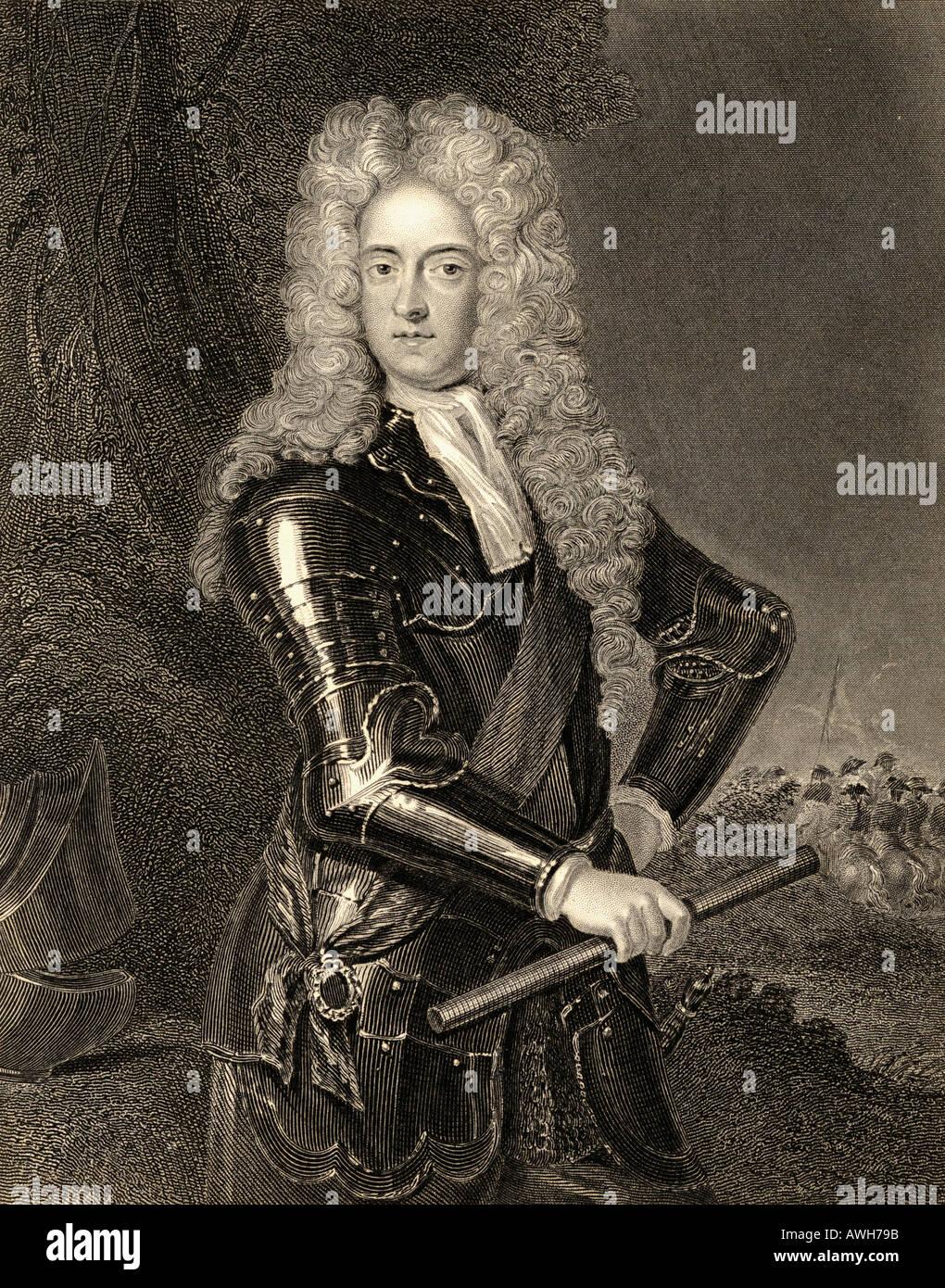 James FitzJames Butler, 2nd Duke of Ormonde, 1665 -1745.  Irish statesman and soldier. - Stock Image