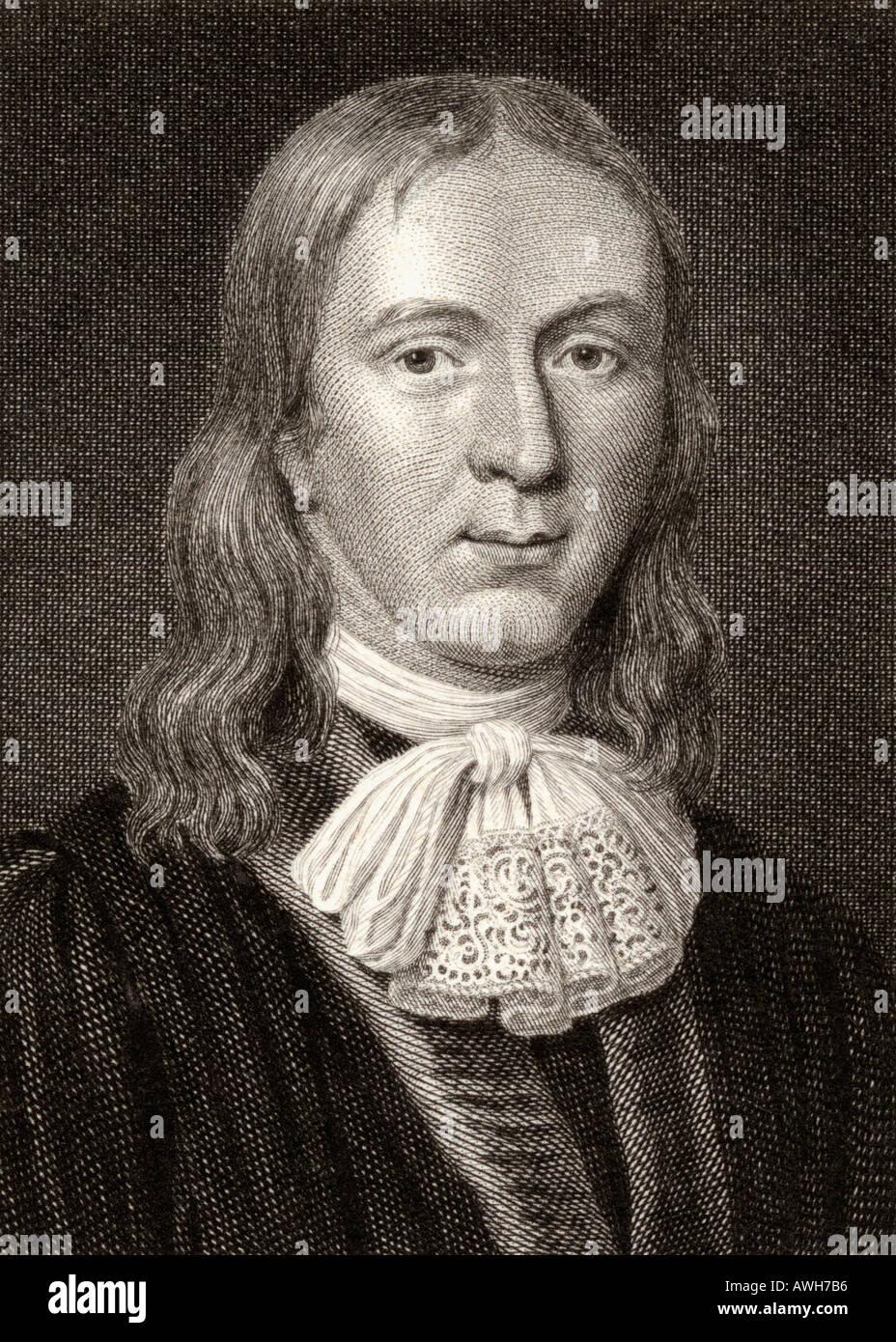 John Milton, 1608 - 1674.  English poet, polemicist, man of letters, and civil servant. - Stock Image