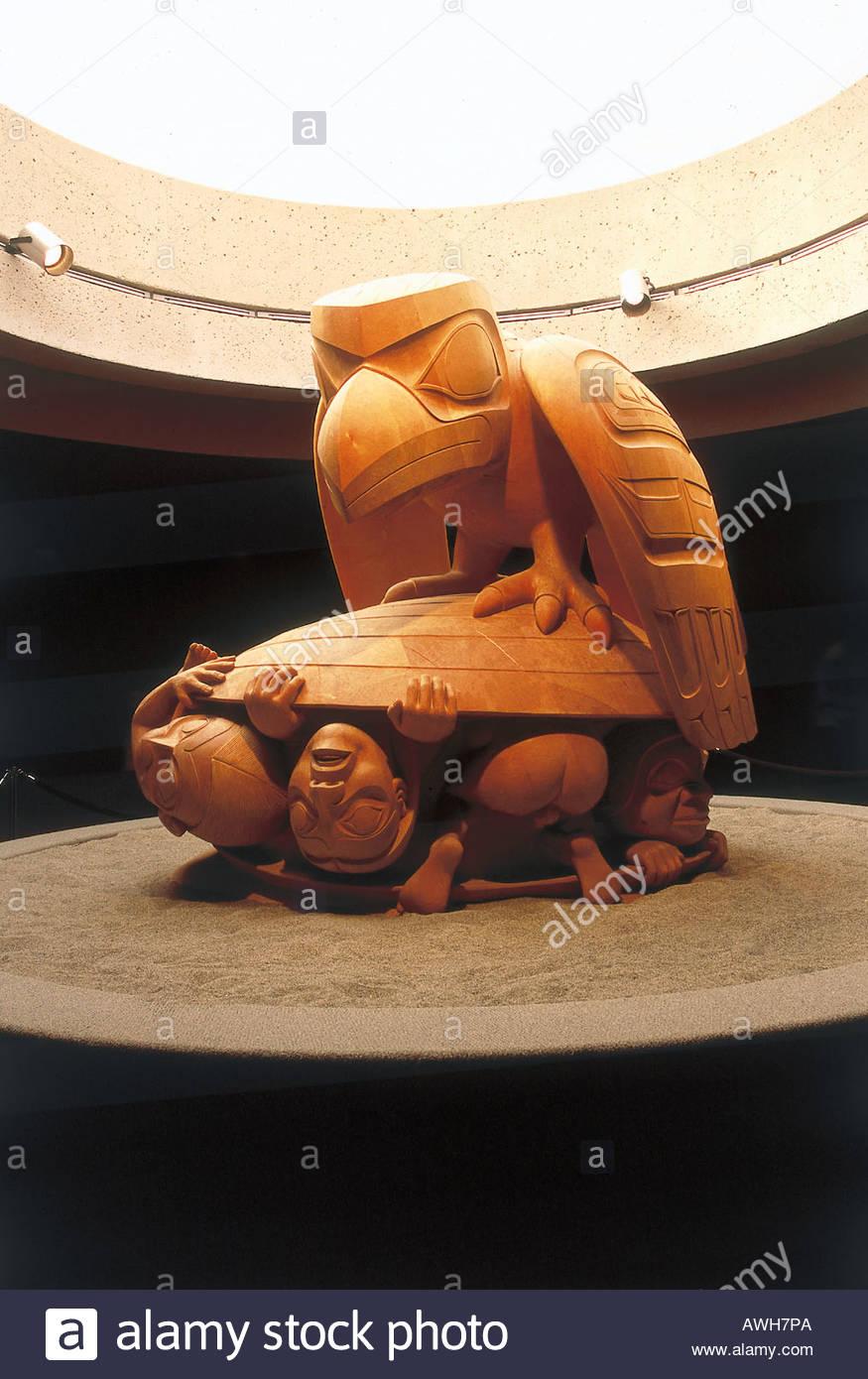 Canada, Pacific Northwest, British Columbia, Vancouver, University of British Columbia Museum of Anthropology - Stock Image