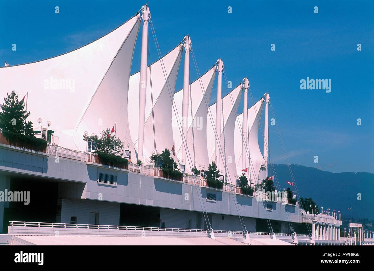 Canada, Pacific Northwest, British Columbia, Vancouver, Canada Place, - Stock Image