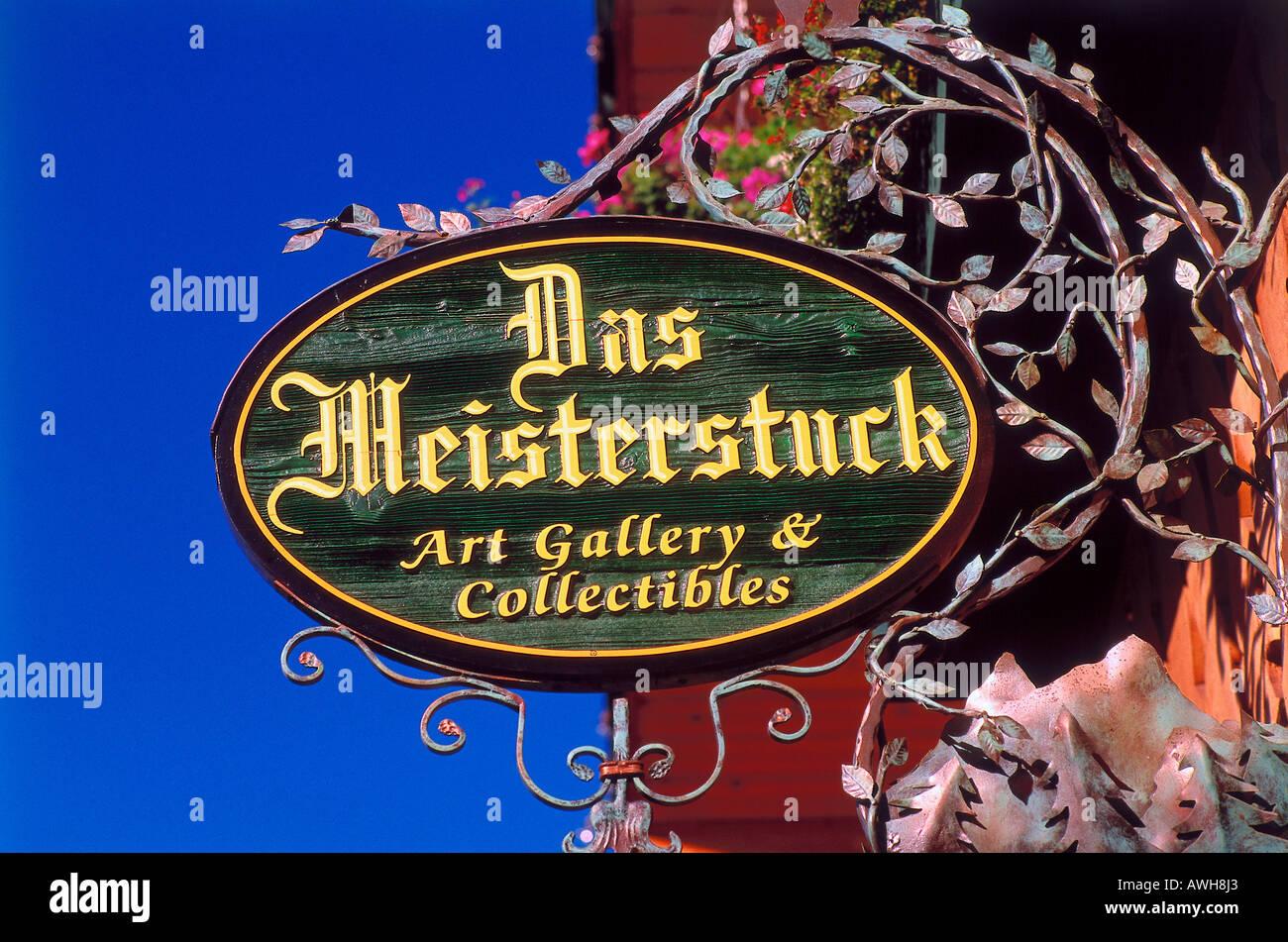 USA, Pacific Northwest, Washington State, Leavenworth, Das Meisterstück, - Stock Image