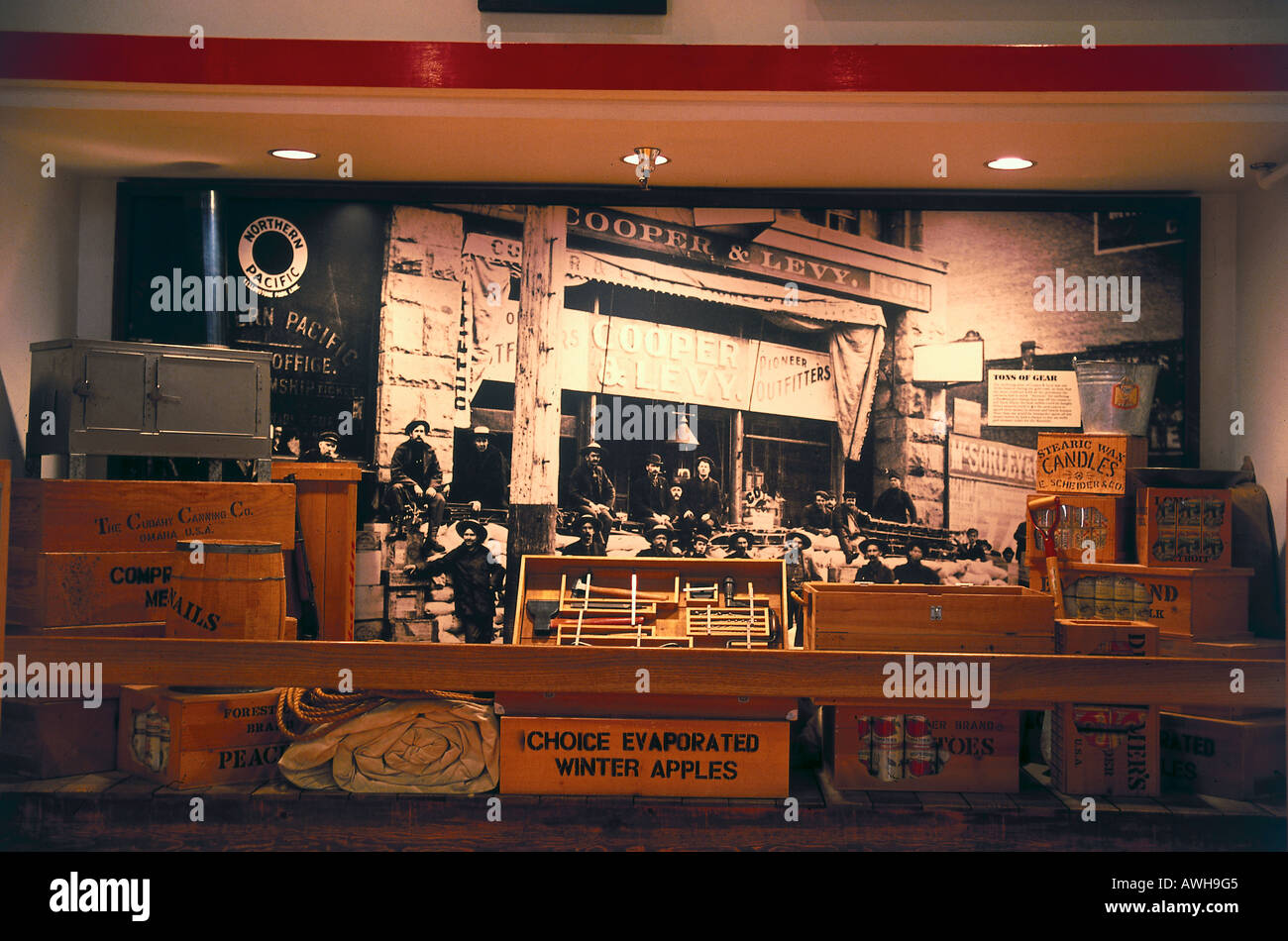 USA, Pacific Northwest, Washington State, Seattle, Pioneer Square Historic District, Klondike Gold Rush National Historical Park - Stock Image