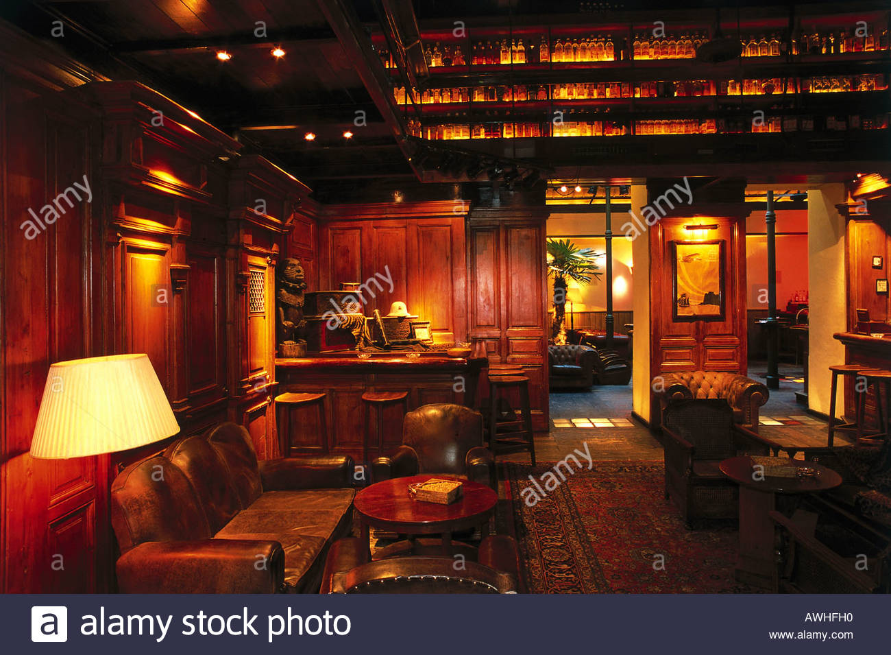 Austria Vienna Planters Club Interior Stock Photos & Austria Vienna on