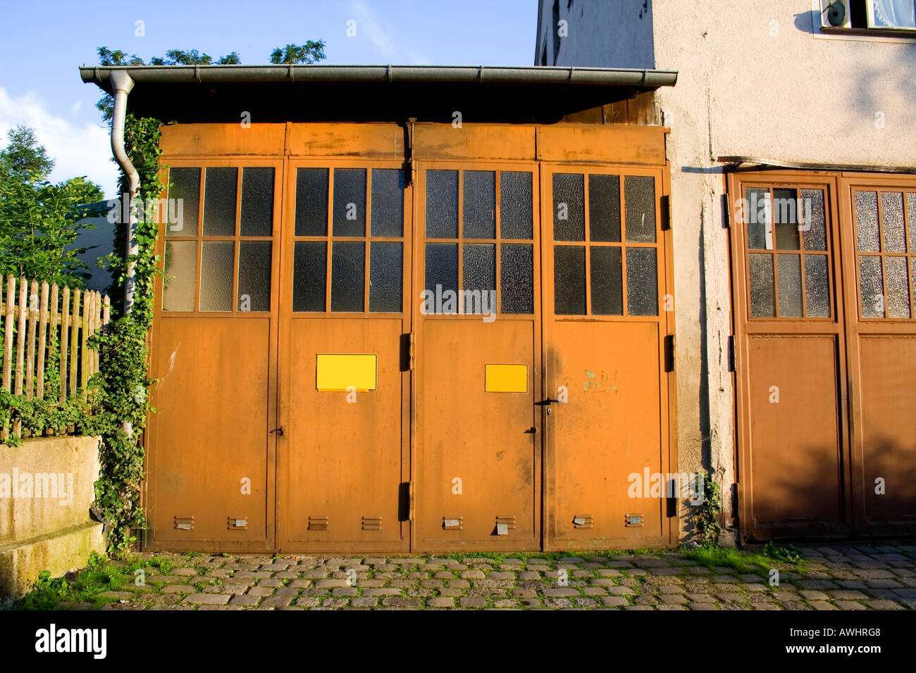 metal garage industrial door an picture photo old building doors stock