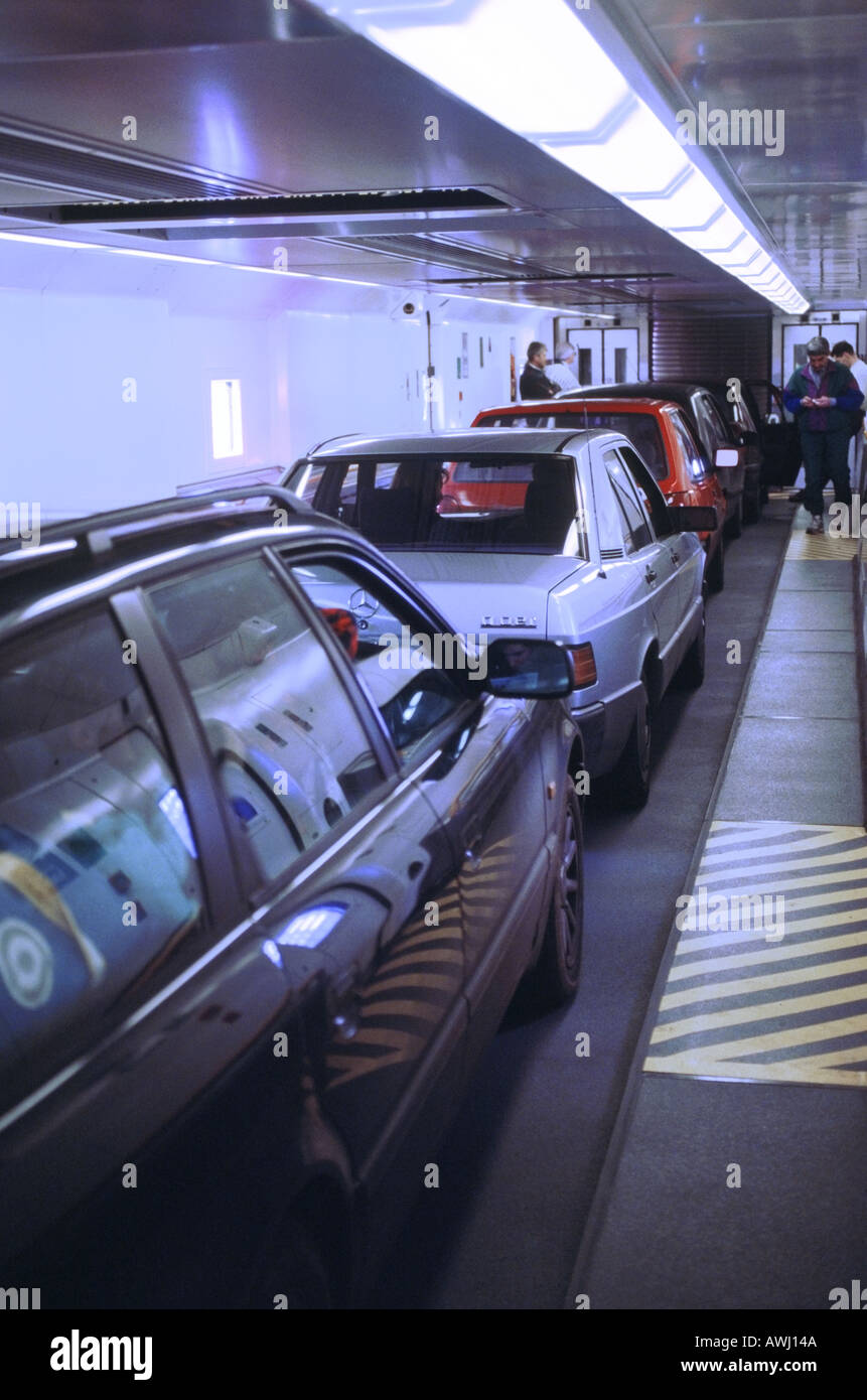 england france the channel tunnel cars inside le shuttle