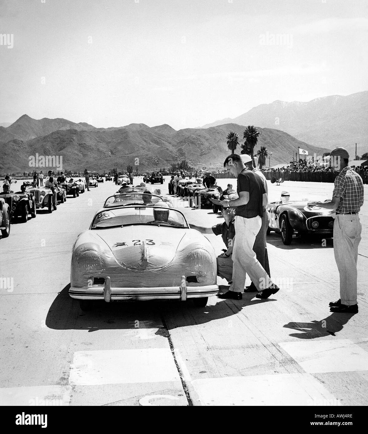 James Dean In His Porsche 550 Spyder Speedster At A