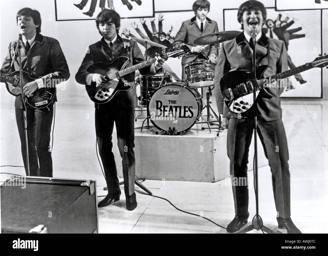 A HARD DAY'S NIGHT  1964 UA film with the Beatles - Stock Image