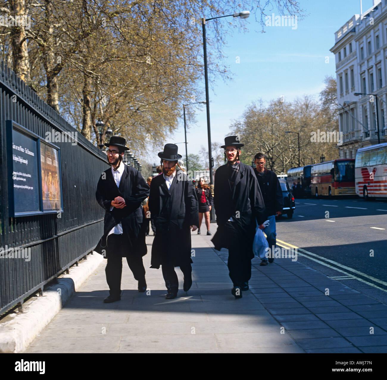 Orthadox Jews West End London UK Europe - Stock Image