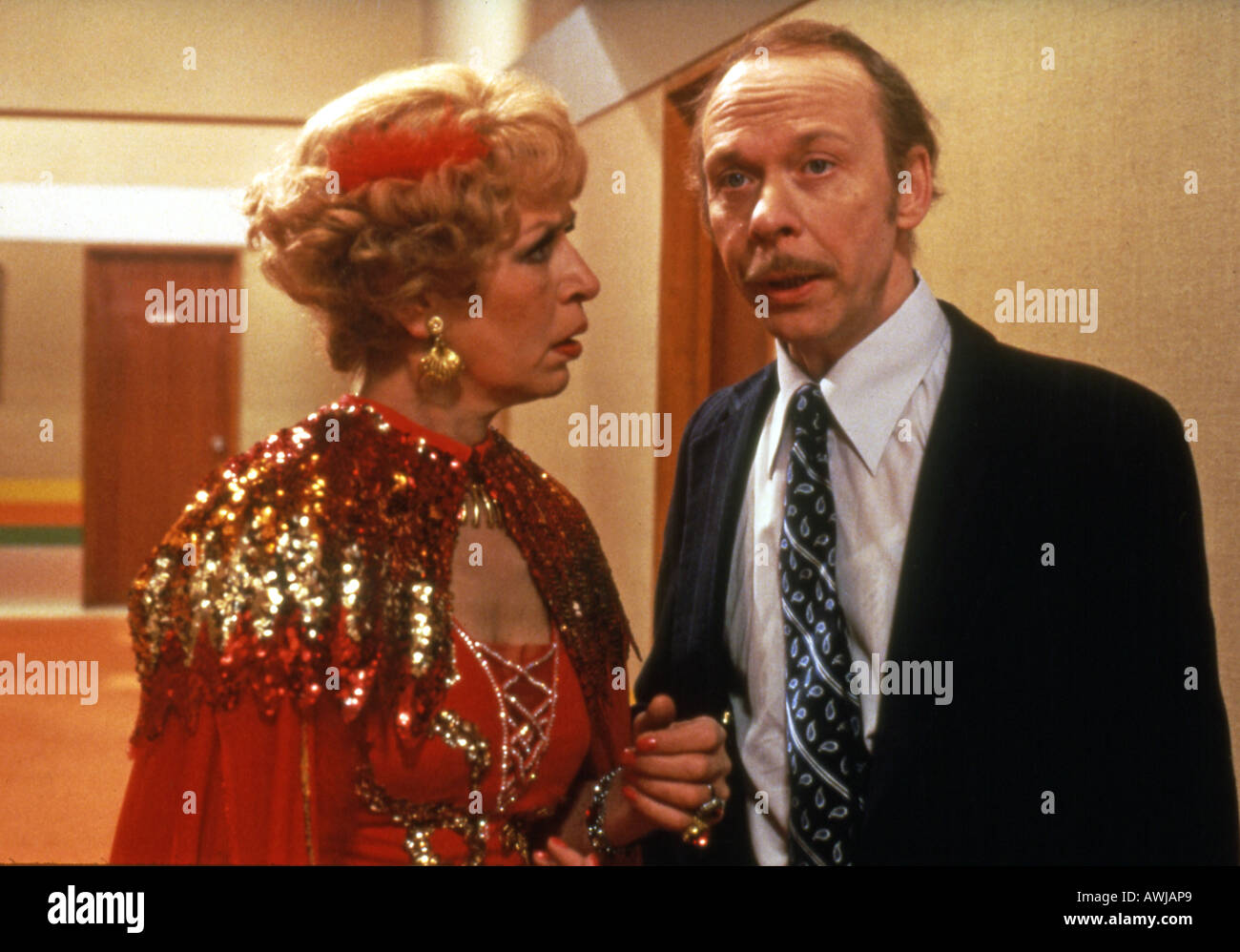 GEORGE AND MILDRED Yootha Joyce and Brian Murphy in the UK TV comedy series from 1980s - Stock Image