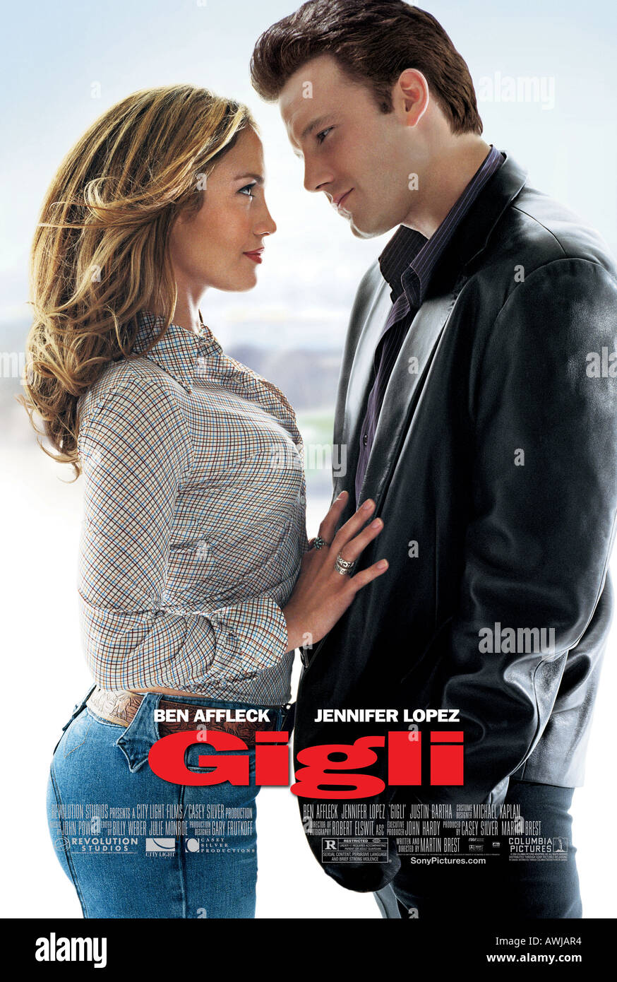 GIGLI  poster for 2003 Columbia film with Jennifer Lopez and Ben Affleck - Stock Image