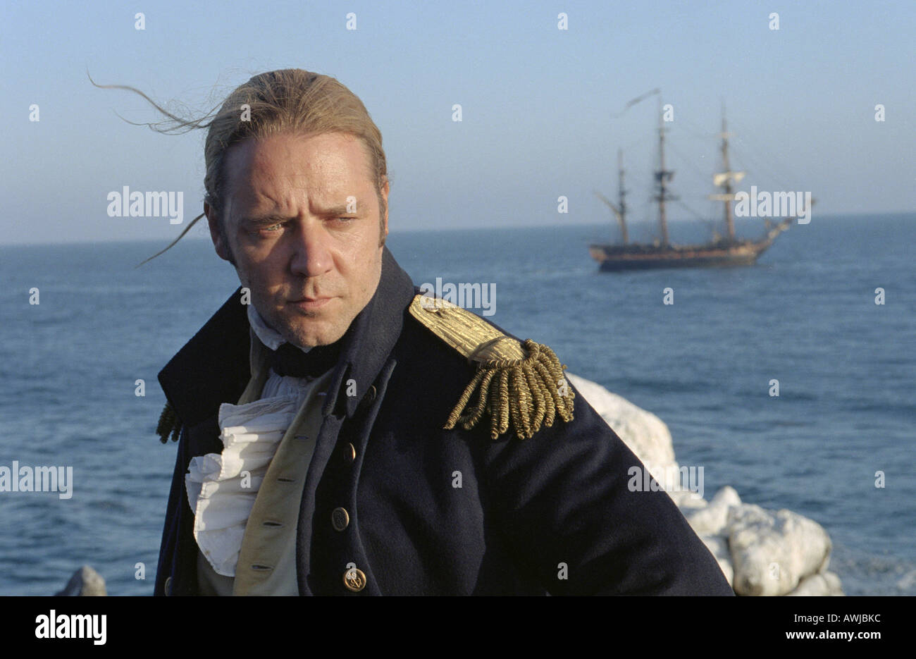 MASTER AND COMMANDER  FAR SIDE OF THE WORLD   2003 Fox/Universal film with Russell Crowe - Stock Image