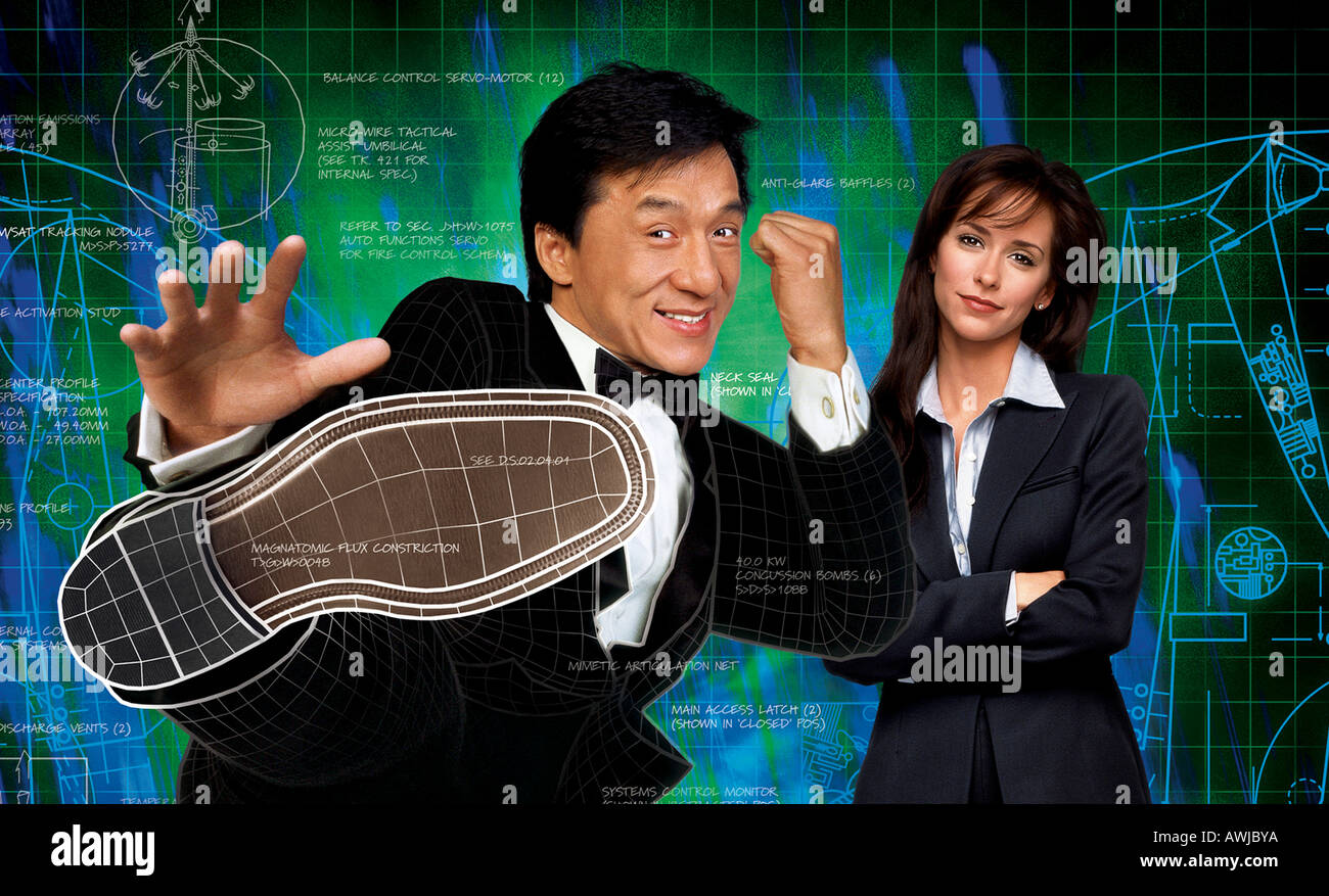 THE TUXEDO 2002 Dream Works film with Jackie Chan and Jennifer Love Hewitt - Stock Image