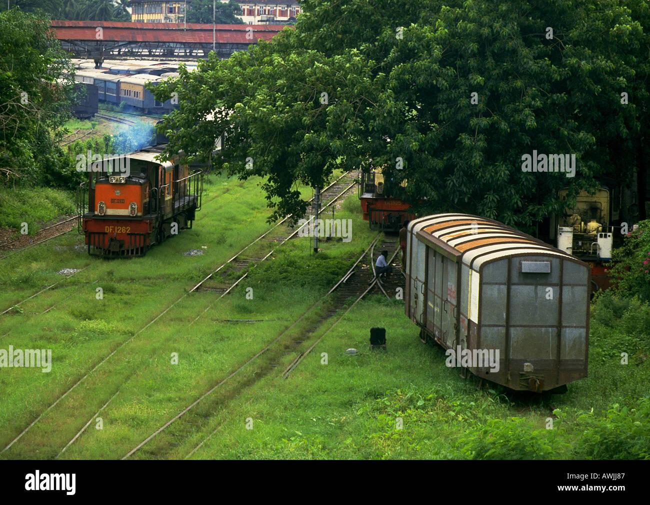 Myanmar, railway cars - Stock Image