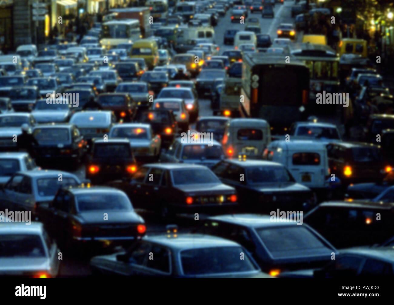 France, Paris, traffic jam - Stock Image