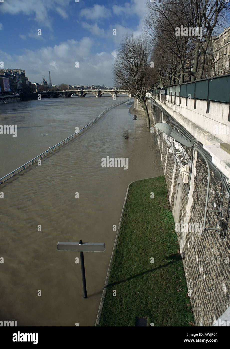 Flooded river - Stock Image